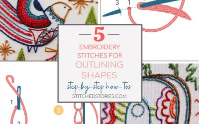 5 Embroidery Stitches You Can Use to Outline Shapes