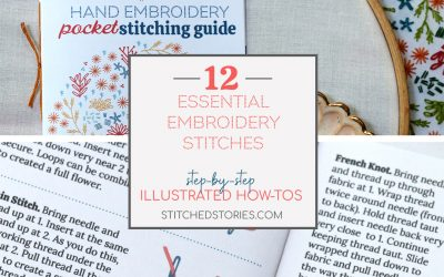12 Essential Embroidery Stitches: step-by-step illustrated stitching how-tos